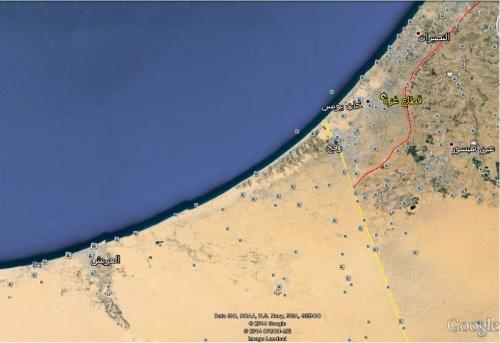 غزة وشمال شرق سيناء