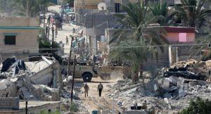 تدمير رفح المصرية من أجل إنشاء المنطقة العازلة - الصورة من الإنترنت